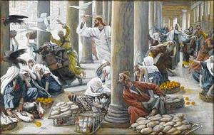 jezus en de geldwisselaars - verkleind