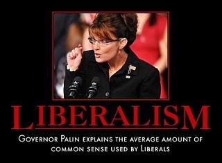 LIBERALISM, Sarah Palin - 80 prct